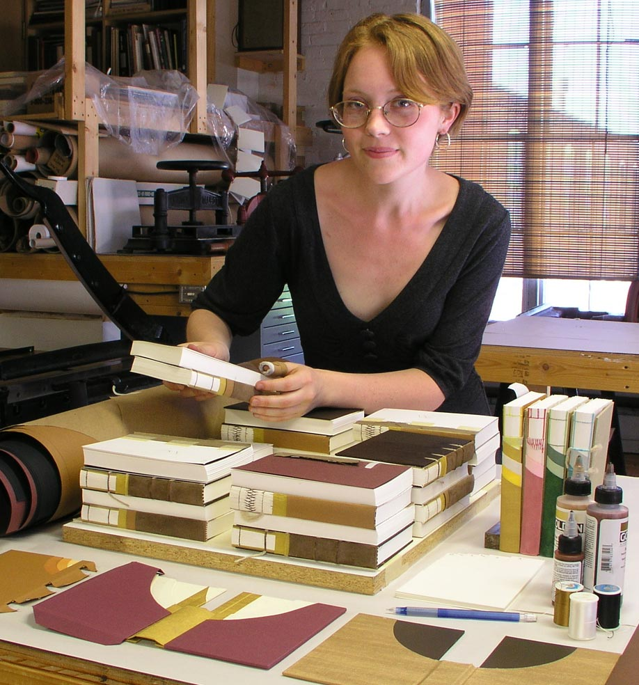Allie Thompson explored book structures in depth as she created a set of cutaway models. The project, titled <i>Book Building: Six Modern Cutaways</i>, is now in the rare book collections of Smith, Wellesley, and Skidmore Colleges.